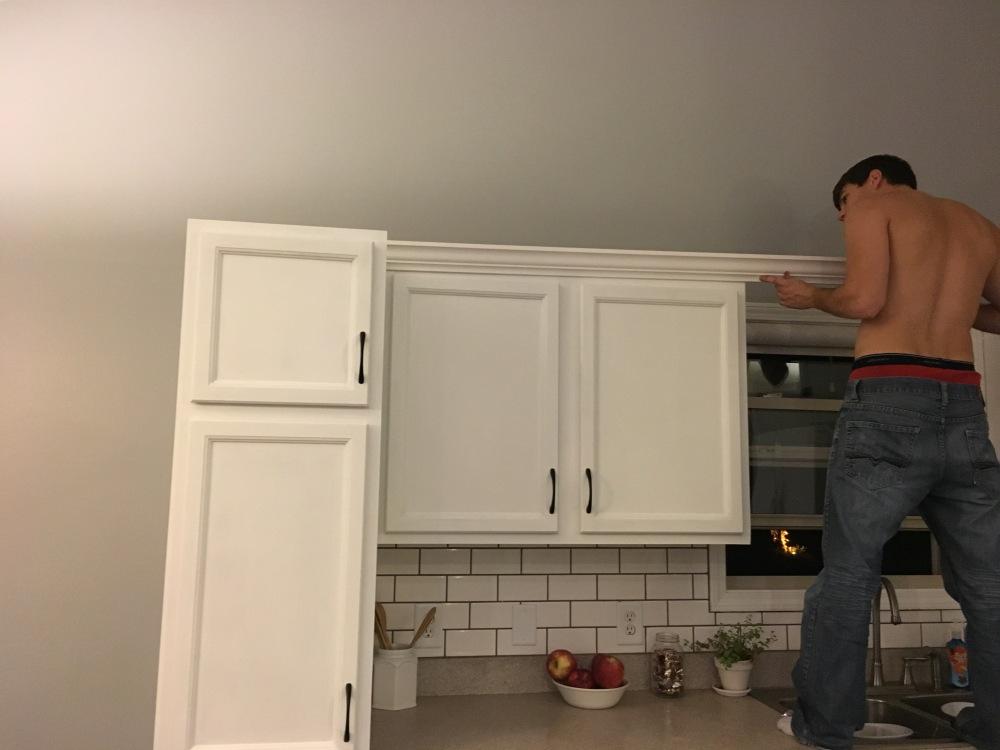 Cabinet trim, kitchen renovation