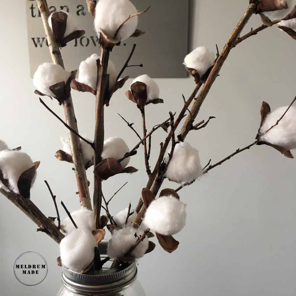 DIY cotton stems - project completed for only $1!